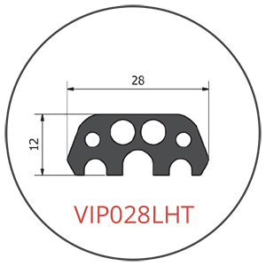 Glued-in VIP028LHT Tunnel Segment Gasket