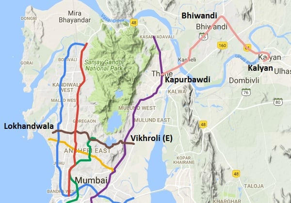 Mumbai route map