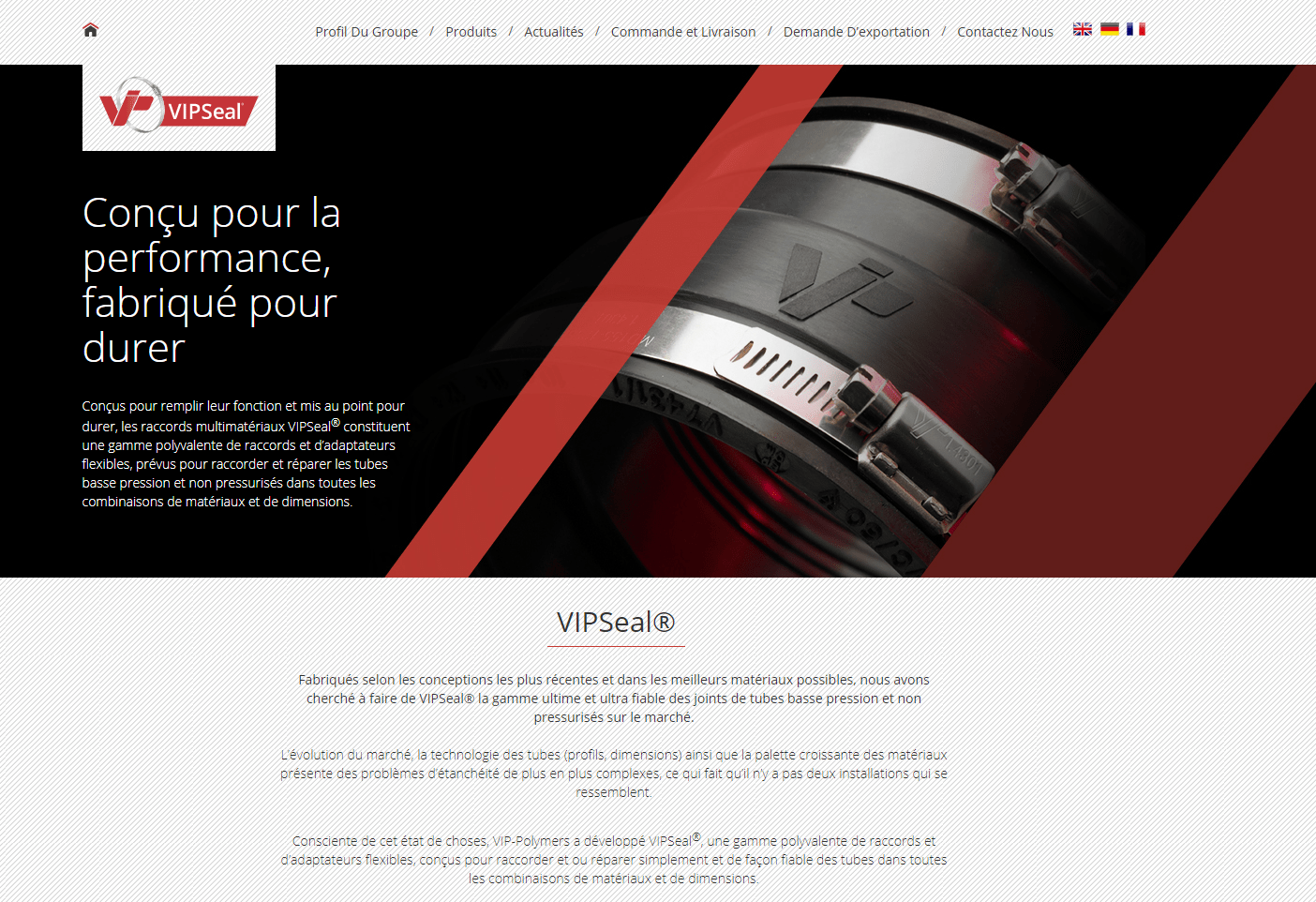 French VIPSeal website